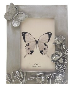 Photo Frame - Champagne Butterfly & Flowers