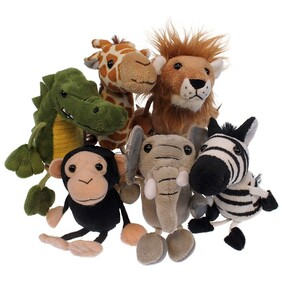 Finger Puppets - Zoo Animals  (7 styles available)