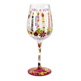 Wine Glass - Here's To You Make A Wish