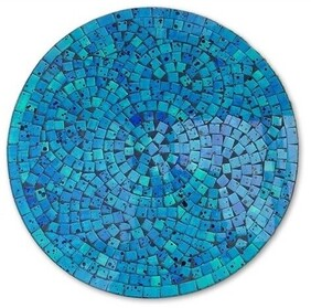 Mosaic Placemat Round 30cm / Turquoise