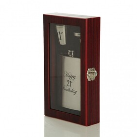 Wooden Gift Box Hipflask