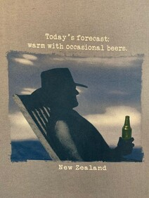 NZ Made Clothing - Today's Forecast: Warm with occasional beers - T-Shirt