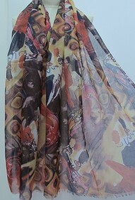 Scarf - Multi Coloured Abstract