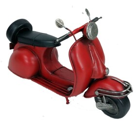 Die Cast Metal Replica Red Scooter