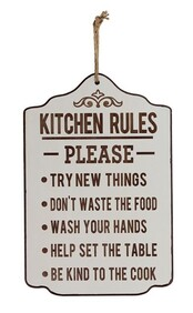 Wooden Sign - Kitchen Rules
