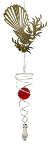 Wind Spinner Fantail on Flax 30cm - Red