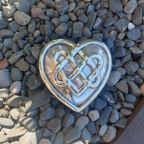 Collectable Heart - Silver Celtic