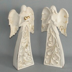 Cream  Carved Detail Angels