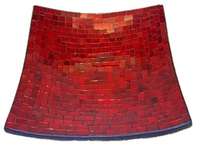 Mosaic Plate - Red