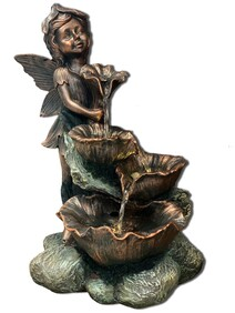 Water Fountain - Fairy with Flower