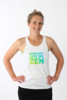 Organic Cotton Singlet - Drop and Give Me Zen