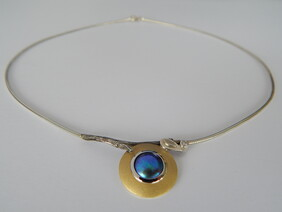 Blue Pearl necklace 35