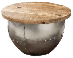 ORLY COFFE TABLE - WOODEN TOP