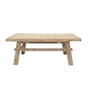 RECLAIMED ELM COFFEE TABLE - NATURAL