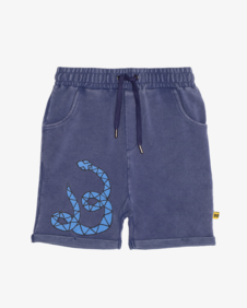 BLUE SNAKE RELAXED SHORTS