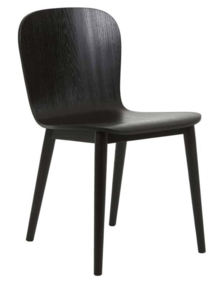SKETCH PUDDLE DINING CHAIR - BLACK
