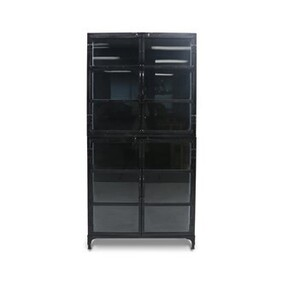 IRON AND GLASS DISPLAY CABINET LARGE