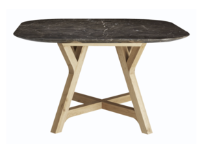 HALO STONELEAF DINING TABLE - BROWN