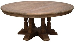LARGE ROUND DINING TABLE RECLAIMED PINE 1.8M