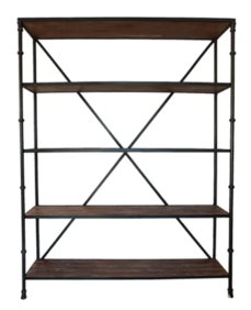 TAMMY WOOD AND METAL BOOKCASE