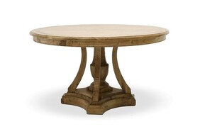 SOLID OAK ROUND DINING TABLE 140CM