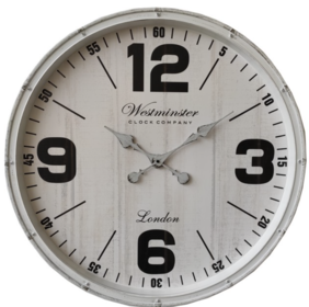 SIMPLE WESTMINSTER CLOCK - WHITE