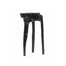 COLTEN WOODEN SIDE TABLE - BLACK
