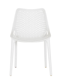 ELIZA OUTDOOR DINING CHAIR - WHITE