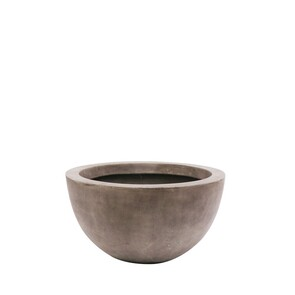 IZZY LOW PLANTER SMALL - CEMENT