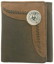 TRI-FOLD WALLET - TWO TONED ACCENT OVERLAY