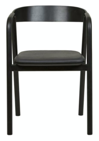 TOLV INLAY UPHOLSTERED ARMCHAIR - BLACK