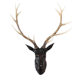 LARGE WALL STAG HEAD