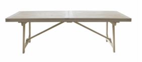 TRESTLE STYLE EXTENSION DINING TABLE