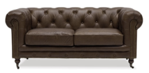 OXFORD CHESTERFIELD SOFA TWO SEATER - NUTMEG