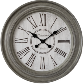 ROMAN NUMERAL WESTMINSTER CLOCK - GREY