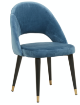LEWIS DINING CHAIR - BLACK/BLUE