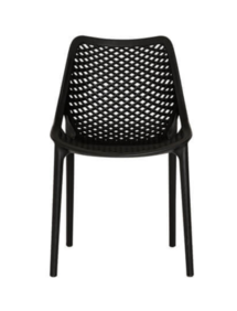 ELIZA OUTDOOR DINING CHAIR - BLACK