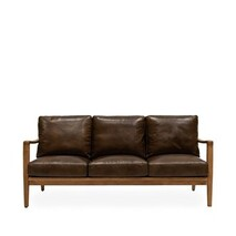 BUCKLE 3 SEATER SOFA - BROWN