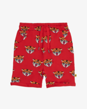RED TIGER KING REPEAT RELAXED SHORTS