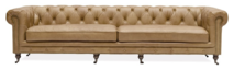 OXFORD CHESTERFIELD SOFA FOUR SEATER - CAMEL