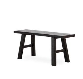 BLACK RUSTIC BENCH SEAT - SMALL