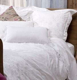 FRENCH COUNTRY EMBELLI COTTON SHEETS
