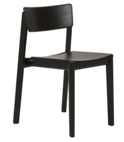 SKETCH POISE DINING CHAIR - BLACK