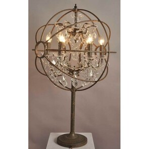 IRON ORB CHANDELIER TABLE LAMP