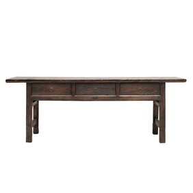 BUTCHER STYLE 3 DRAWER CONSOLE TABLE