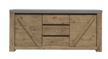 ASTRID CONCRETE AND ACACIA SIDEBOARD