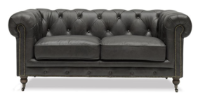 OXFORD CHESTERFIELD SOFA TWO SEATER - ONYX
