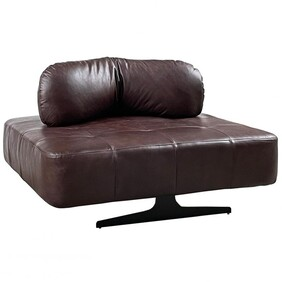 GRIFFIN XL LEATHER CHAIR - BROWN