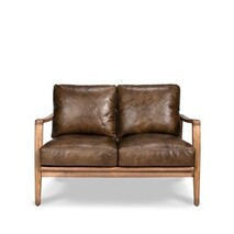 BUCKLE 2 SEATER SOFA - BROWN