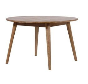 SOLBERG ROUND OAK DINING TABLE